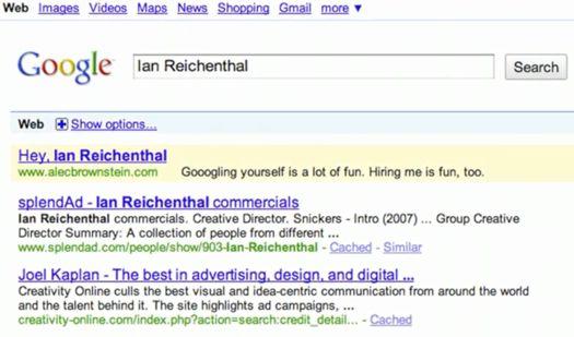 google job experience