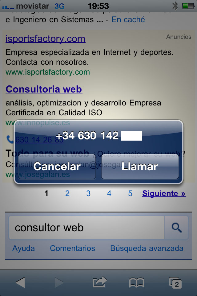 telefono de adwords