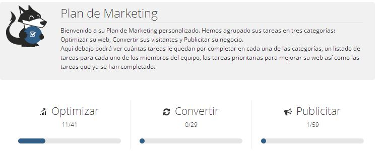 plan de marketing woorank