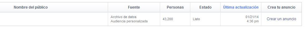 audiencias en facebook