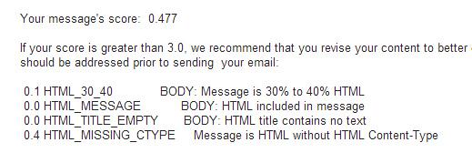 mejoras por email