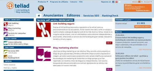 teliad panel e1398688130611 Novedades en Teliad: plataforma de link building y comercialización de sitios web