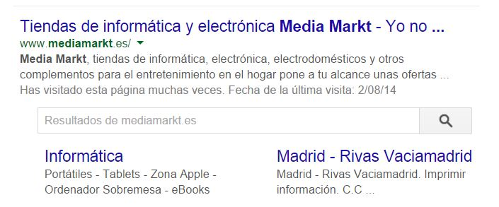 Sitelinks Search Box google Sitelinks Search Box de Google, cuidado si tienes un ecommerce