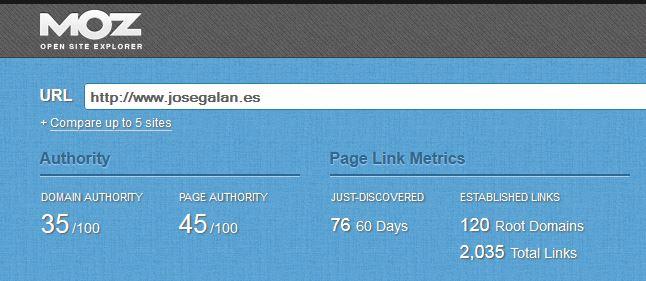 barra moz ¿Qué es el Domain Authority DA y el Page Authority PA?
