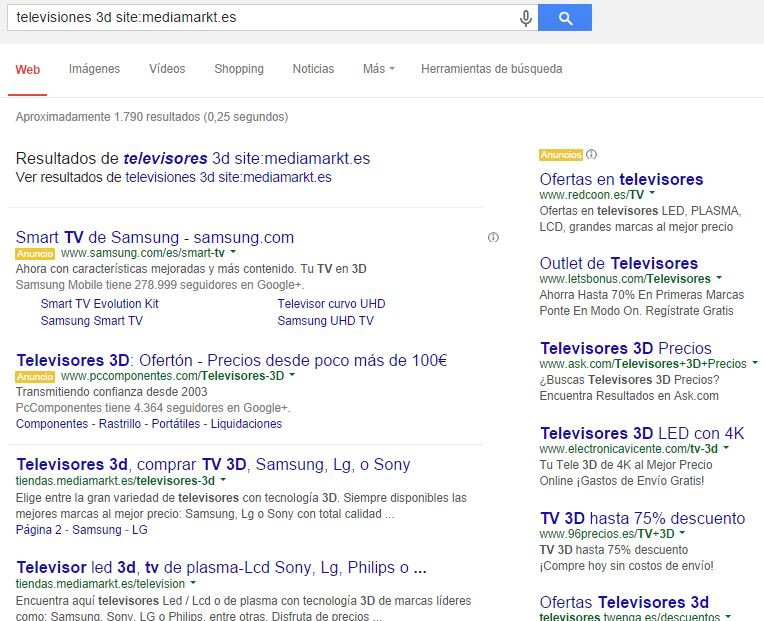 resultados search box Sitelinks Search Box de Google, cuidado si tienes un ecommerce