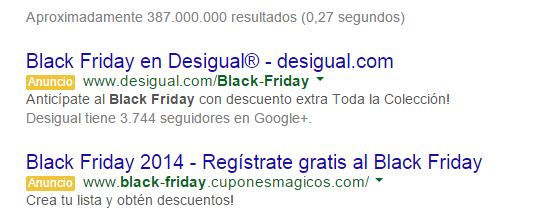 black friday en busqueda Estrategias con Adwords para el Black Friday y Cyber Monday