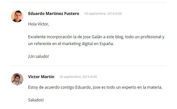 eduardo comentarios Este post no es de Marketing Digital, D.E.P. Eduardo Martínez Fustero