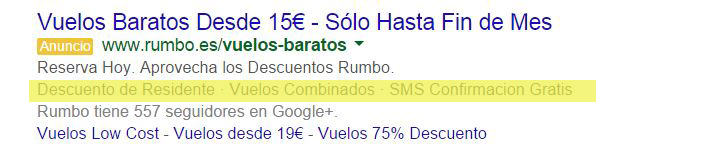 extensiones de leyenda Estrategias con Adwords para el Black Friday y Cyber Monday