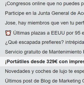 email simbolo