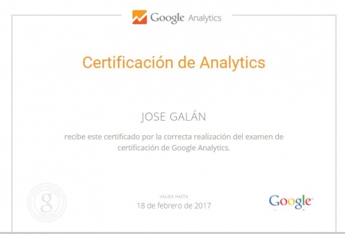google analytics certificado