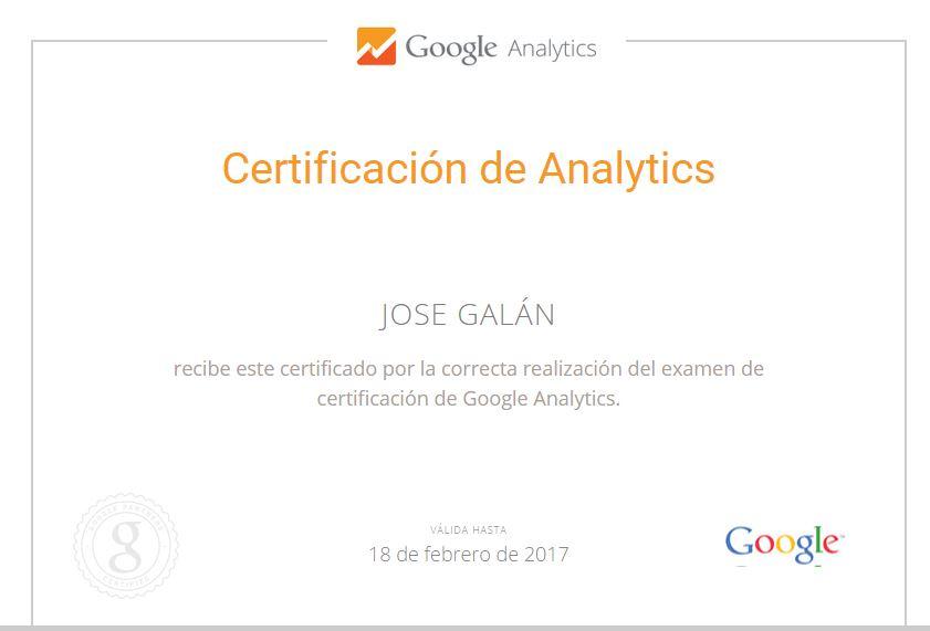 google analytics certificado Certificado y examen de Google Analytics