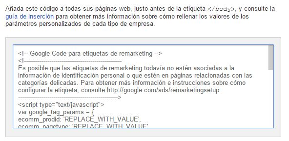 etiqueta de remarketing