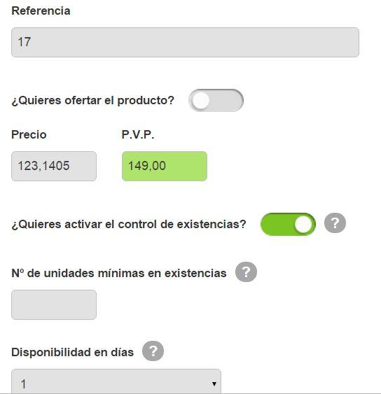panel producto oleoshop Cómo crear tu tienda online de forma sencilla y rápida