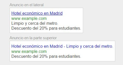 anuncio texto Remarketing en Adwords. La guía definitiva