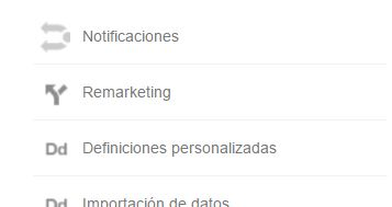 remarketing menu analytics Remarketing en Adwords. La guía definitiva