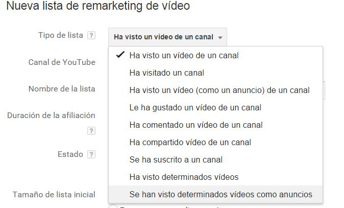 remarketing youtube Remarketing en Adwords. La guía definitiva