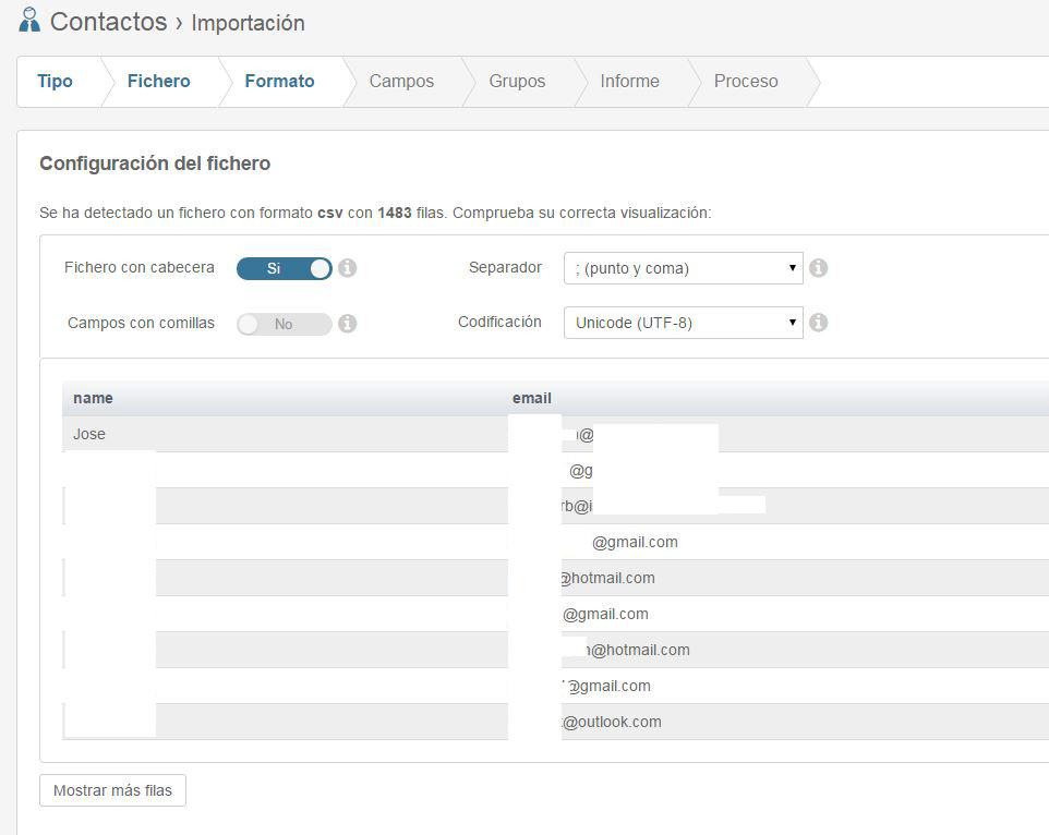 importador te envio Te envio.com plataforma de email marketing en español fácil de usar