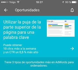 oportunidades app adwords Disponible la app de Adwords para IOs