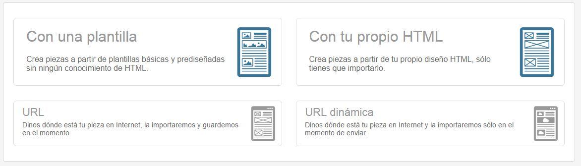 piezas teenvio Te envio.com plataforma de email marketing en español fácil de usar