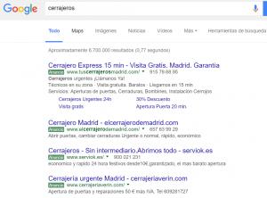 búsqueda adwords