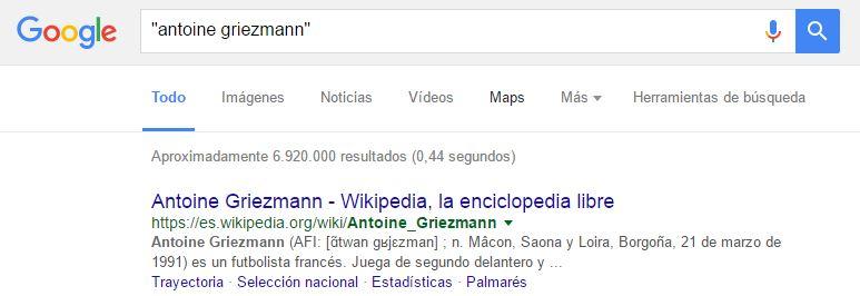 busqueda exacta google
