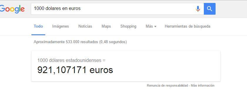 google conversor moneda