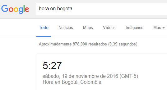 google hora
