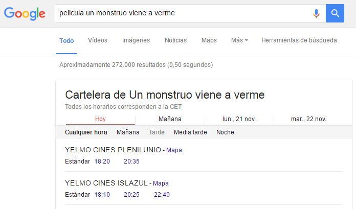 google pelicula