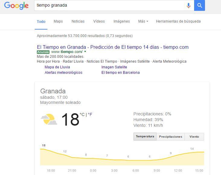 google tiempo