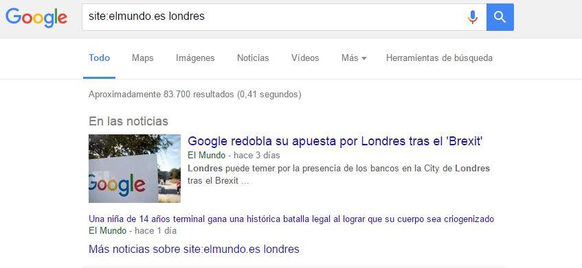 paginas en google