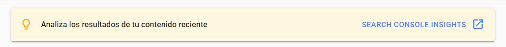 Google console insights